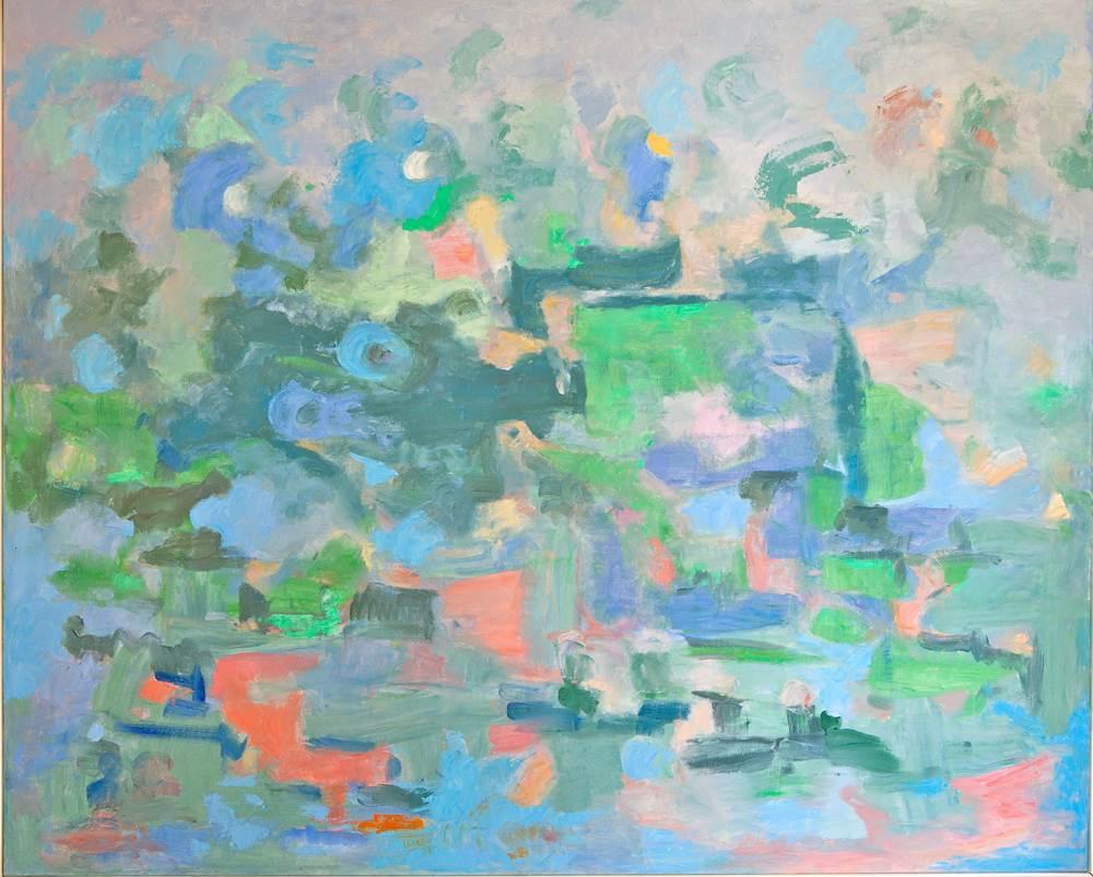 Cuadros de arte abstracto. Arca de la alianza. Óleo sobre lienzo 81 x 100