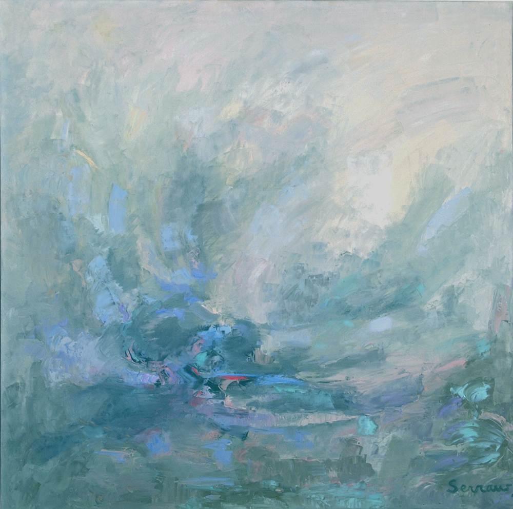 Cuadros de arte abstracto. ATRACCION. Óleo sobre lienzo, 110 x 110