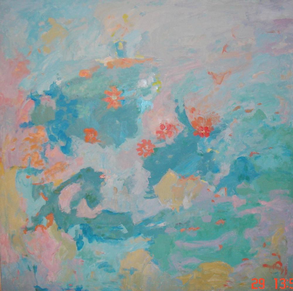 Cuadros de arte abstracto. Atractor. Acrílico sobre lienzo. 130 x 130
