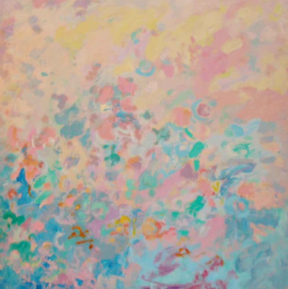 Cuadros de arte abstracto. Condensación. Óleo sobre lienzo. 100 x 100