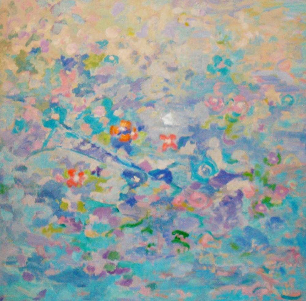 4.- Floración. Óleo sobre lienzo. 100 x 100