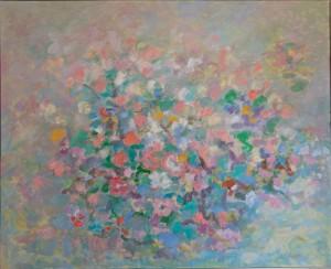 FLORES II. Óleo sobre lienzo. 81 x 100