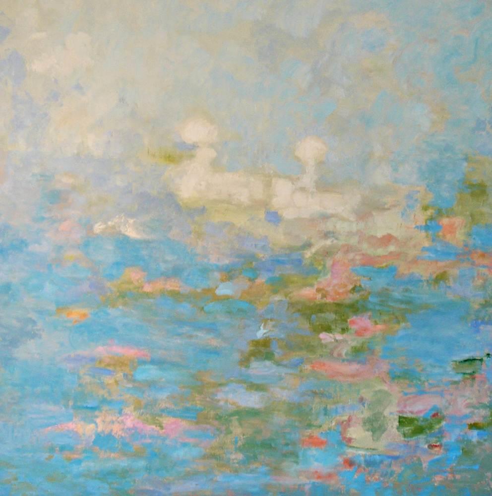 Cuadros de arte abstracto. Inocencia. Óleo sobre lienzo. 100 x 100