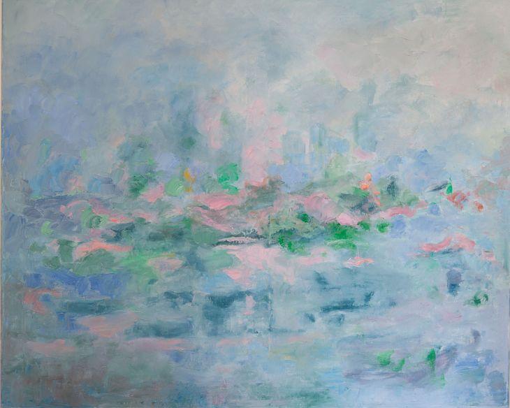 Cuadros de arte abstracto. Lugar perdido. Oleo sobre lienzo 81 x 100