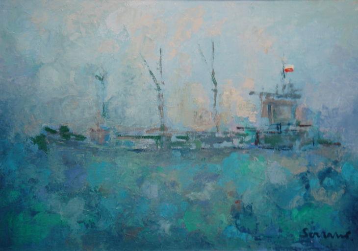 Navegación - Cuadro de Guillermo Serrano