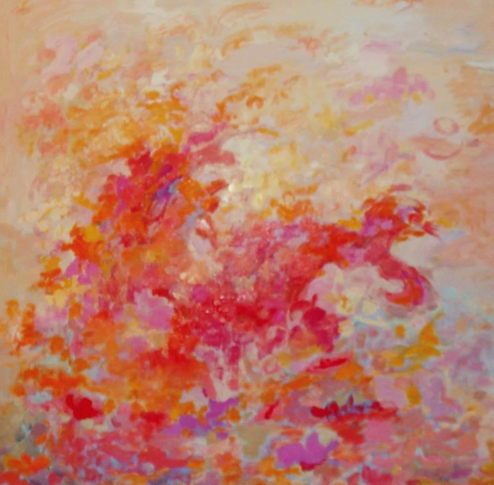 Cuadros de arte abstracto. Pasión. Óleo sobre lienzo. 100 x 100