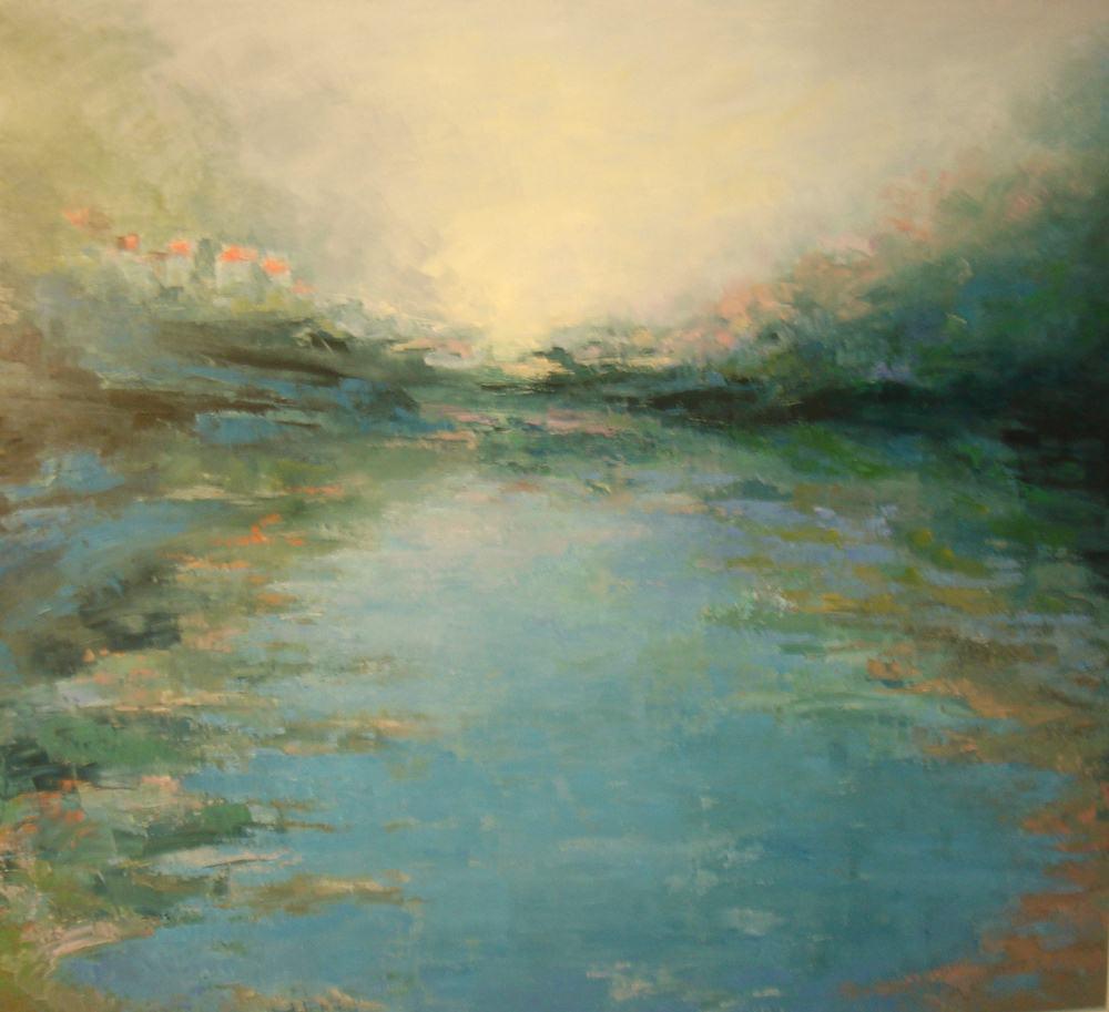 Rios y mares. PROXIMIDAD LEJANA. Óleo sobre lienzo. 130 x 140