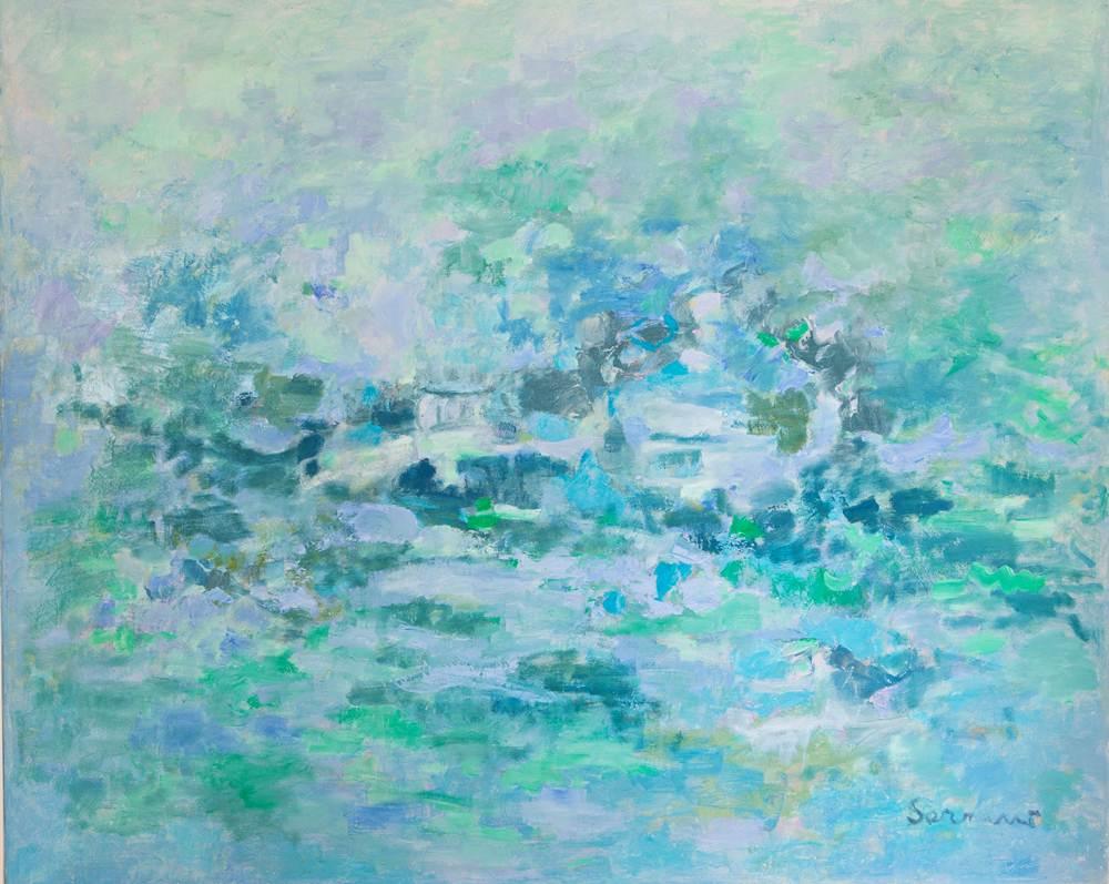 Cuadros de arte abstracto. Recuerdo vago, Óleo sobre lienzo. 81 x 100