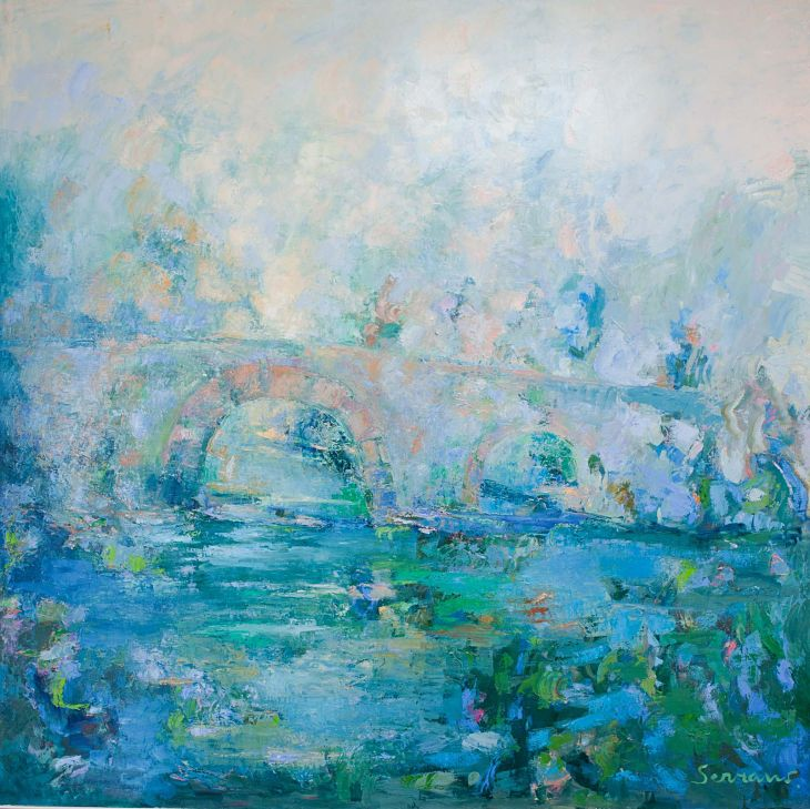 Rios y mares. RIO GÁLLEGO. Óleo sobre lienzo 150 x 150