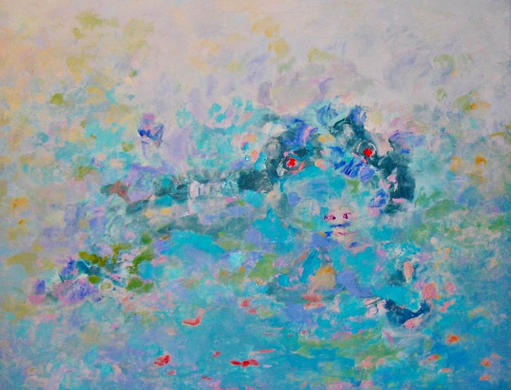 Cuadros de arte abstracto. Visión sensible. Óleo sobre lienzo. 81 x 100