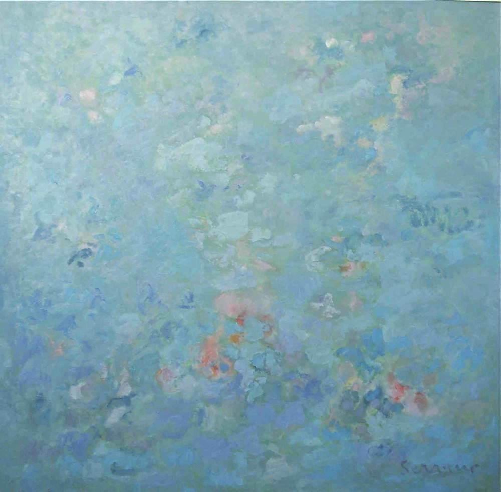 Cuadros de arte abstracto. Sublimación. Óleo sobre lienzo. 100 x 100