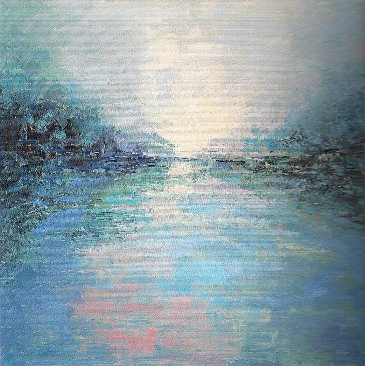 Rios y mares. PROFUNDIDAD EN CALMA. Óleo sobre lienzo. 100 x 100