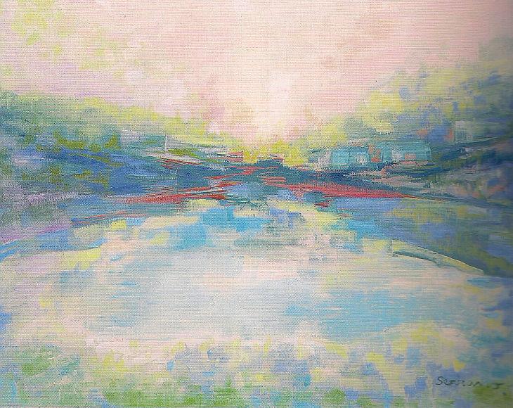 Paisajes rurales. PAISAJE SOÑADO II. Óleo sobre lienzo. 65 x 81