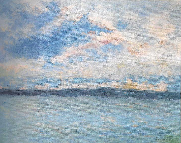 Rios y mares. DESDE EL CIELO. Óleo sobre lienzo. 81 x 100