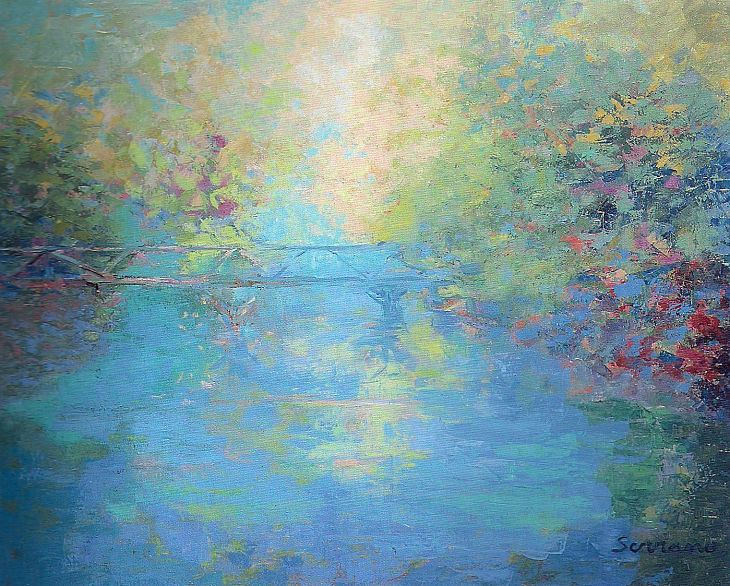 Rios y mares. CAMINO DEL PARAISO. Óleo sobre lienzo. 65 x 81