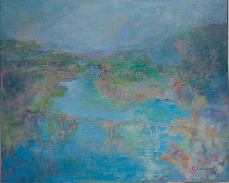 Rios y mares. CERCA DE GINEBRA. Oleo sobre lienzo 81 x 100