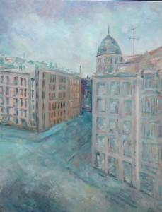 CHAMBERI. Óleo sobre lienzo. 81 x 65