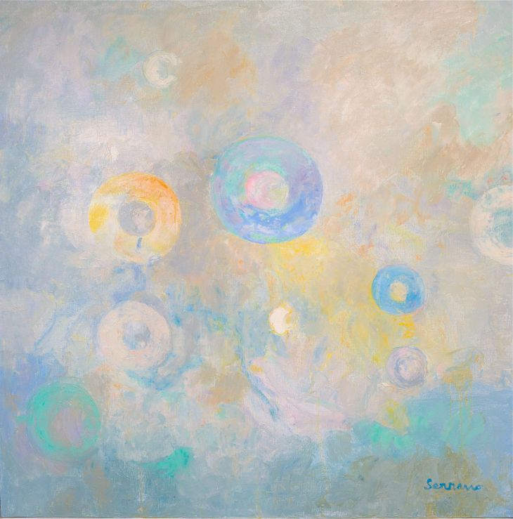 Pintura abstracta. CONCENTRACIÓN I. Óleo sobre lienzo. 110 x 110