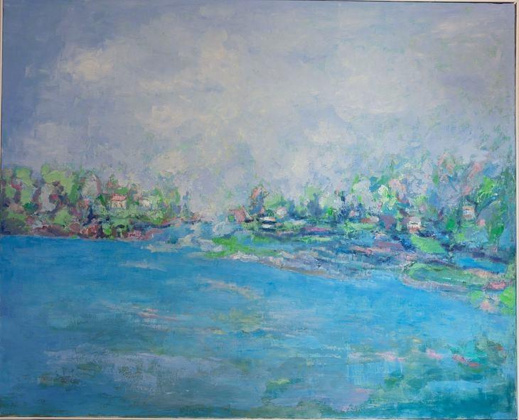 Rios y mares. COSTA ROMÁNTICA. Oleo sobre lienzo 81 x 100