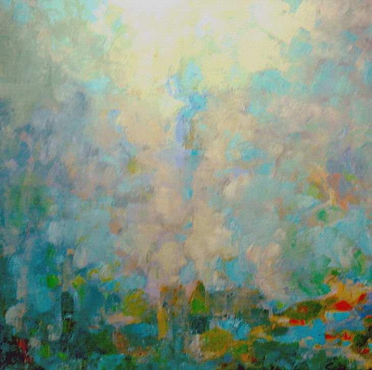 Cuadros de arte abstracto. EMANACIÓN. Oleo sobre lienzo 110 x 110