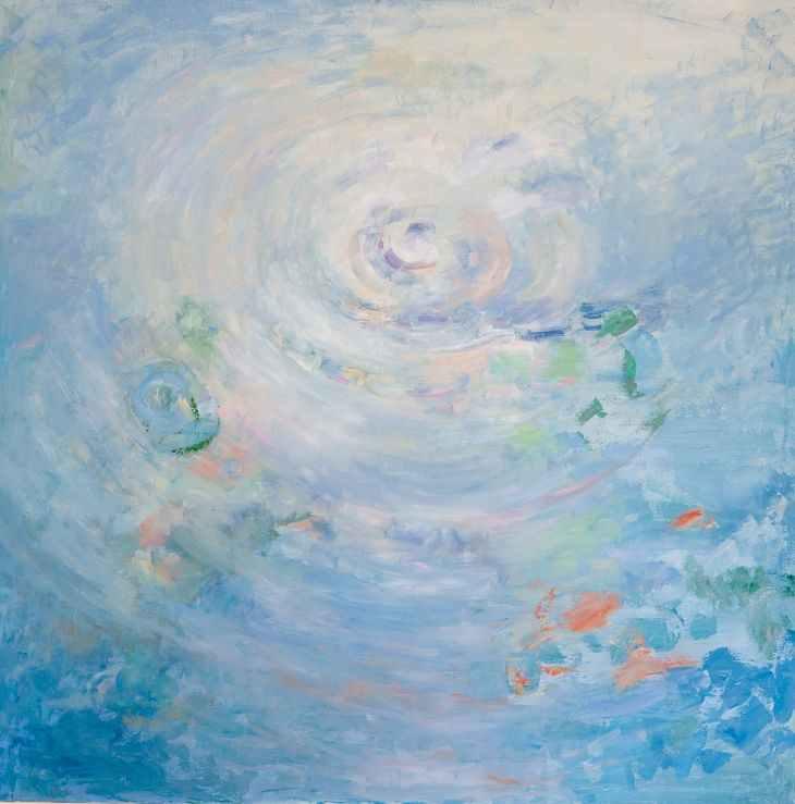 Pintura abstracta. ESTRELLA LEJANA. Óleo sobre lienzo. 100 x 100