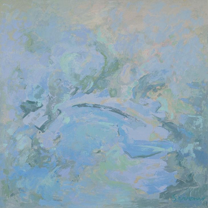GENESIS. Acrílico sobre lienzo. 110 x 110