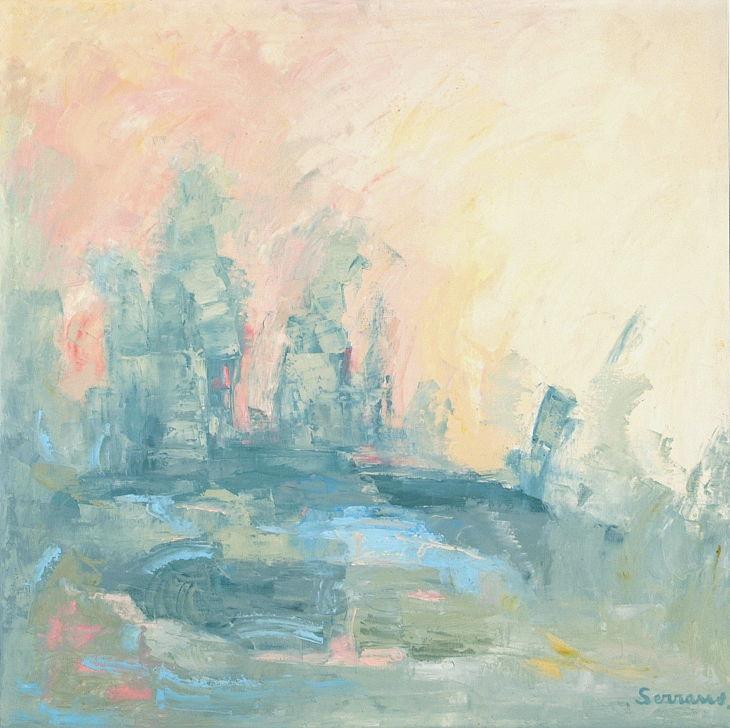 HACIA EL OCASO. Óleo sobre lienzo. 100 x 100