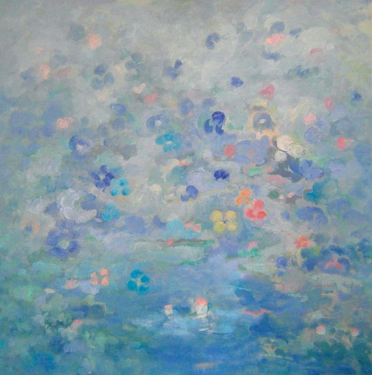 Pintura abstracta. Inspiración Mágica. Óleo sobre lienzo. 100 x 100