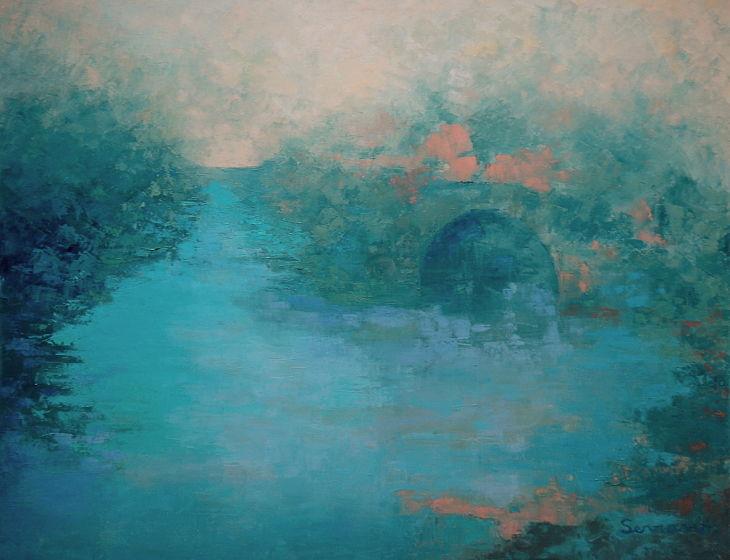 Rios y mares. PARAJE. Oleo sobre lienzo 65 x 81