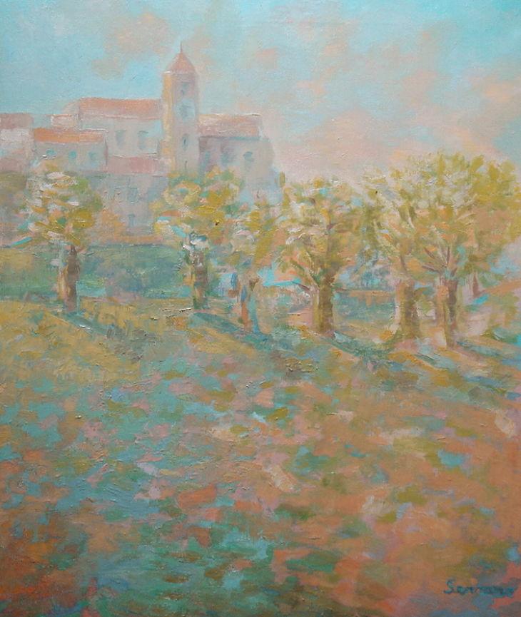 POBLACION Oleo sobre lienzo 65 x 54