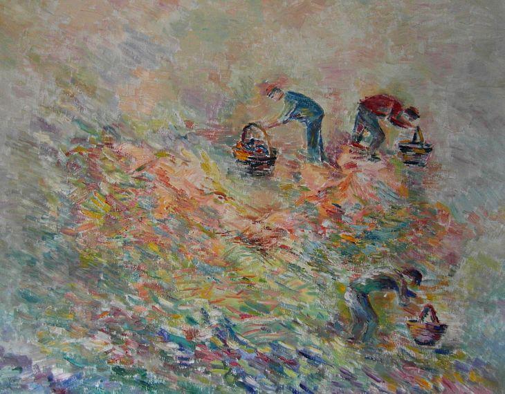Paisajes rurales. RECOLECCION II Oleo/lienzo 72 x 91