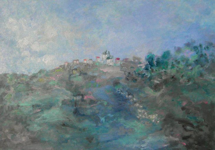 Paisajes rurales. Regreso a la aldea Oleo/lienzo 65 x 81