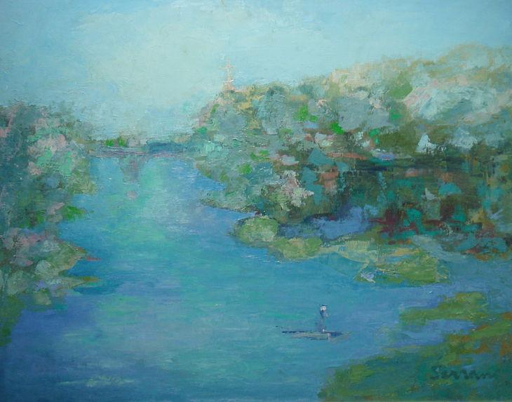 Rios y mares. REMANSO. Oleo sobre lienzo 65 x 81