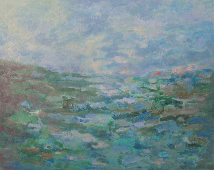 Paisajes rurales. SENDA AL INFINITO. Óleo sobre lienzo. 81 x 100