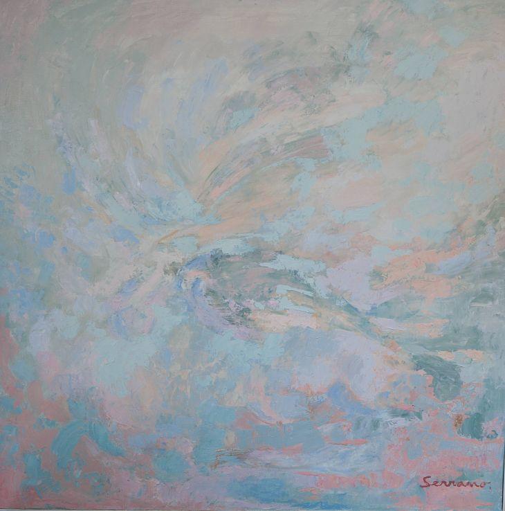 Pintura abstracta. SENSACIÓN I. Óleo sobre lienzo. 100 x 100