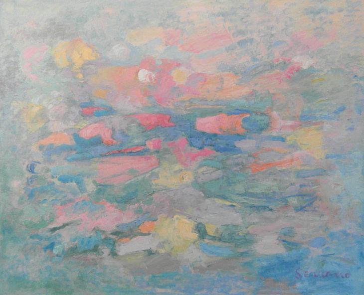 VISIÓN ONÍRICA. Óleo sobre lienzo. 81 x 100