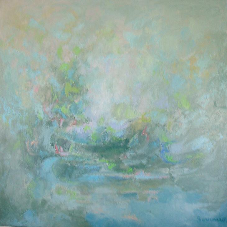 VISION SENSIBLE. Óleo sobre lienzo. 100 x 100