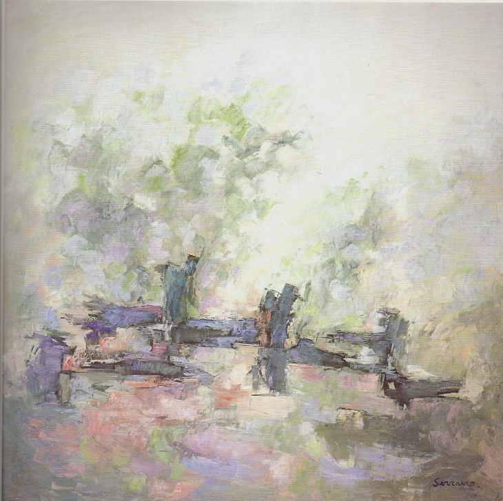 ENCUENTRO CON LA NATURALEZA. Óleo sobre lienzo. 185 x 185.