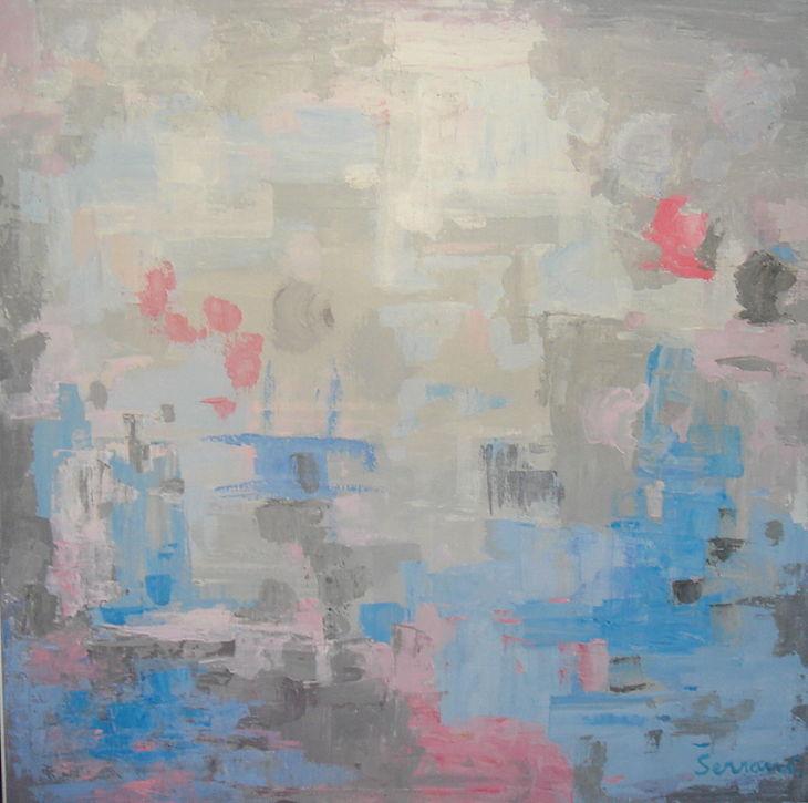 Cuadros de arte abstracto. ECO DE LA CIUDAD Oleo sobre lienzo 100 x 100
