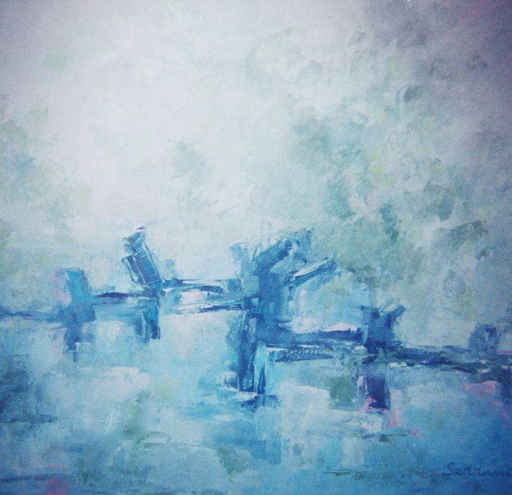 Cuadros de arte abstracto. ENCRUCIJADA Oleo sobre lienzo 100 x 100