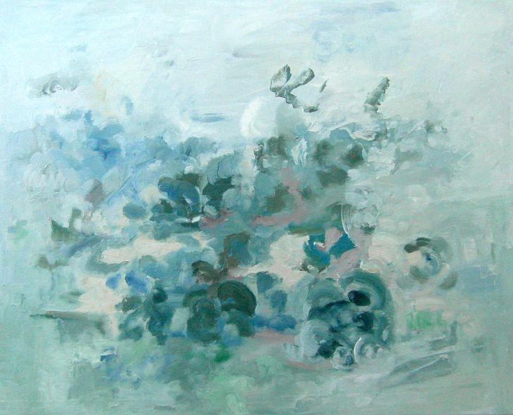 Cuadros de arte abstracto. LABOR. Oleo sobre lienzo 70 x 81