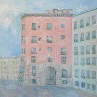 Paisajes urbanos. ARCO DE CUCHILLEROS II. Oleo sobre lienzo. 100 x 100