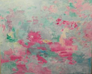 AMBICION. Pintura abstracta. Acrílico sobre lienzo. 81 x 100