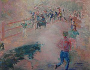 ENCIERRO Oleo sobre lienzo 73 x 92