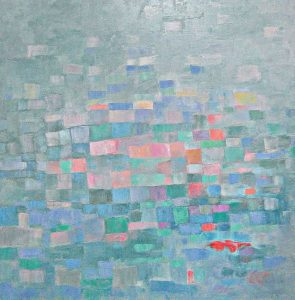 ESTRUCTURA SENSIBLE Oleo sobre lienzo 100 x 100