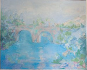 CERCA DEL PUENTE Óleo sobre lienzo. 81 x 100