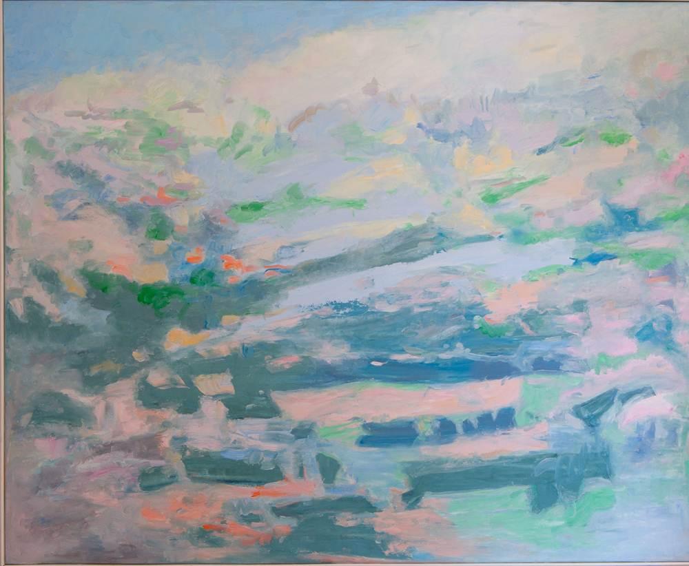 Paisajes rurales. ASCENSO A LA CUMBRE. Óleo sobre lienzo. 81 x 100