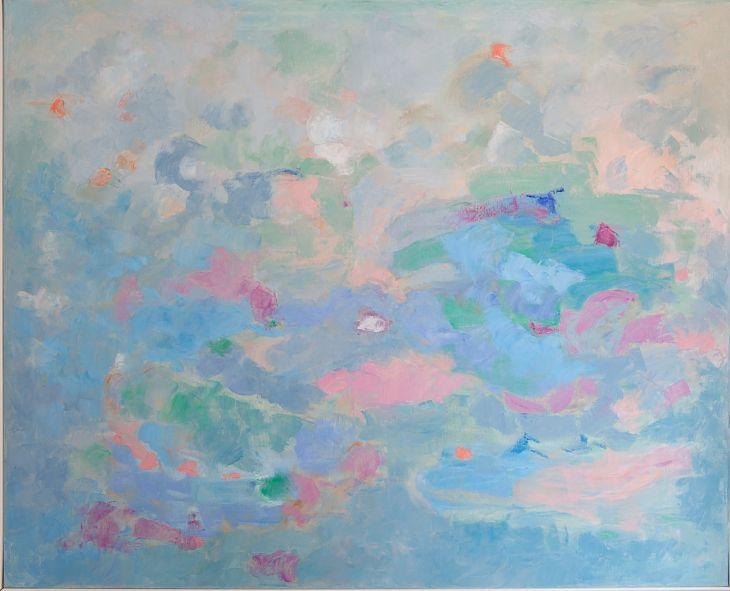 Pintura abstracta. En los orígenes II. Óleo sobre lienzo. 81 x 100