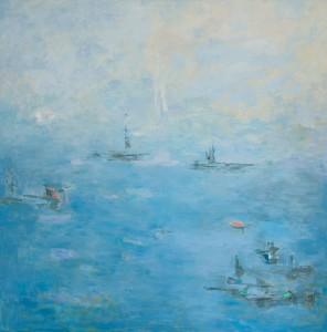 Rios y mares. Entre la bruma. Óleo sobre lienzo. 100 x 100
