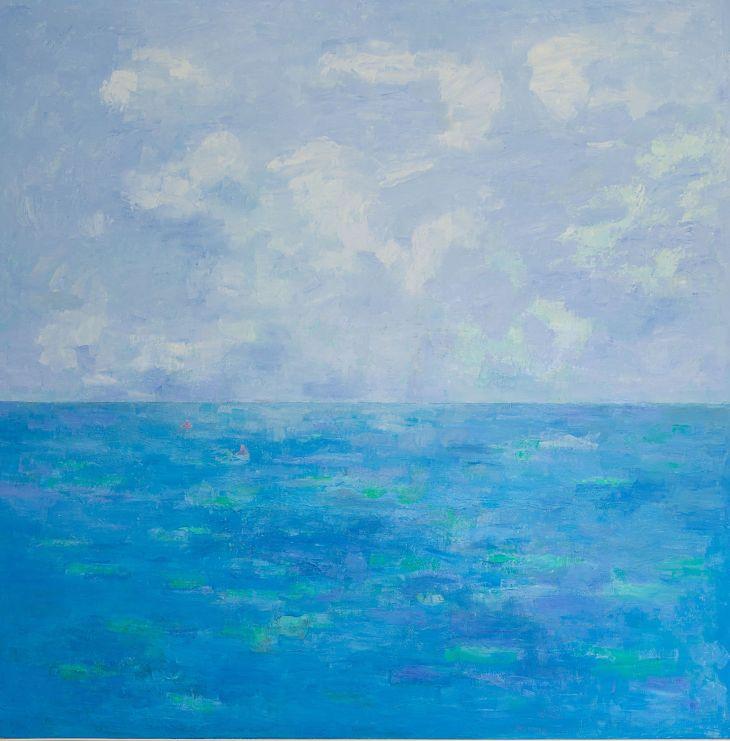 Rios y mares. EN LA LEJANÍA. Óleo sobre lienzo. 100 x 100
